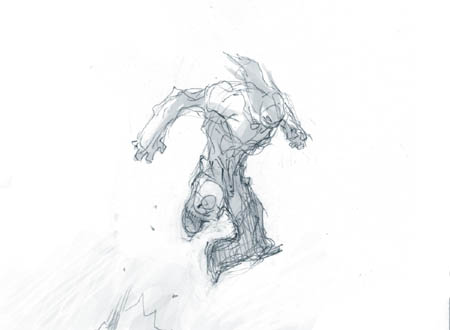Darksiders II Death standard jump concept art (Sketch)
