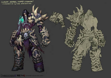 DarksidersII Death Slayer armor concept art  (Color)