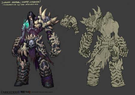 DarksidersII Death Slayer armor concept art  (Color)