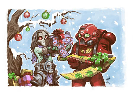 Darksiders II & Warhamer 40K DMO special Christmas card (Color)