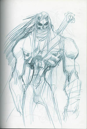 DarksidersII Death zombie-like design   (Pencil)