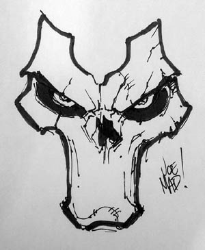 The mask of Death done at Paris Comic Con 2012 (Sketch)