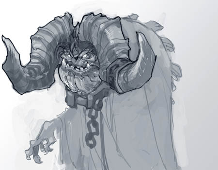 Darksiders 2: Ostegoth demon variant concept art sketch