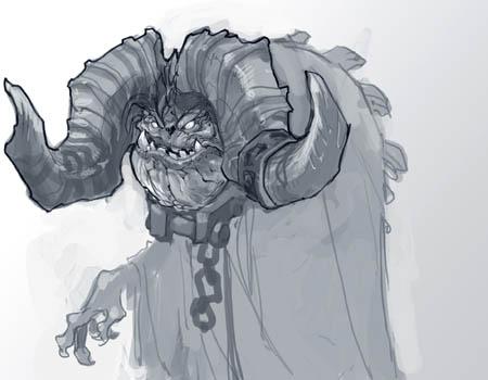Darksiders 2: Ostegoth demon variant concept art sketch