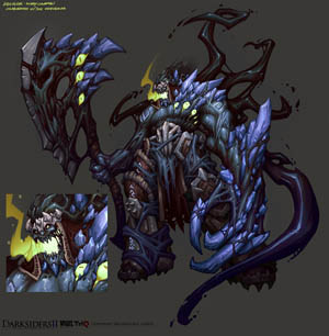 DarksidersII boss Absalom concept art (Color)