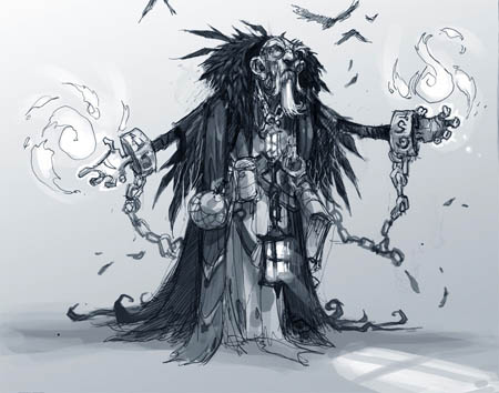 DarksidersII the Crow Father concept art (Pencil)