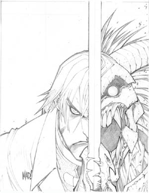 Devil May Cry PSM Magazine #51 Dante cover (Pencil)