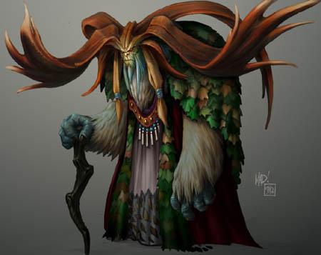 Dungeon Runners Ogireil concept art (Color)