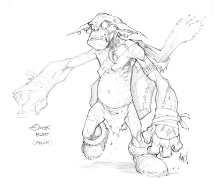 Dungeon Runners Orok Runt concept art