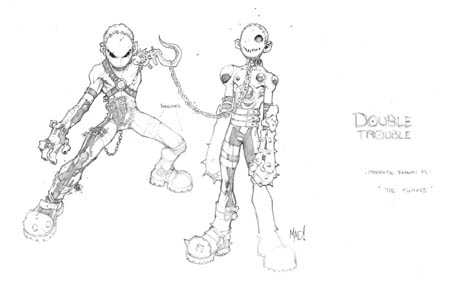 Dungeon Runners concept art Double Trouble (Pencil)