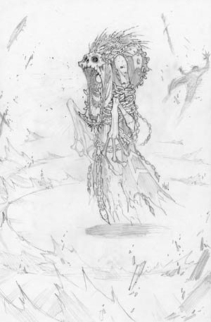 Dungeon Runners concept art fade banshee (Pencil)