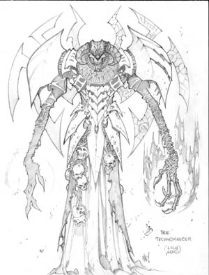 Dungeon Runners concept art fade Technomancer (Pencil)