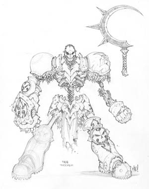 Dungeon Runners concept art Fade Trooper (Pencil)