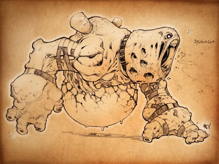 Dungeon Runners creepy deformed monster concept art
