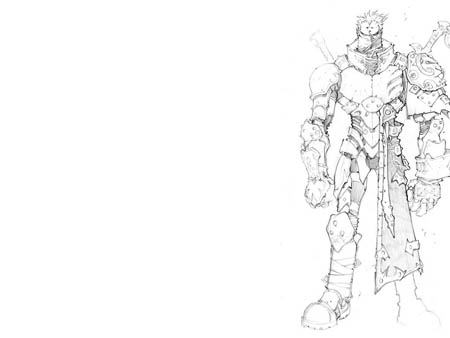 Dungeon Runners player armor concept arts (Pencil)
