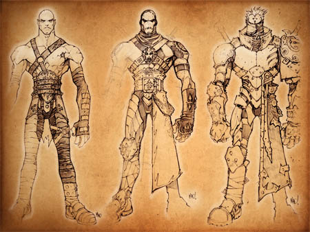 Dungeon Runners player armor concept arts (Texture)