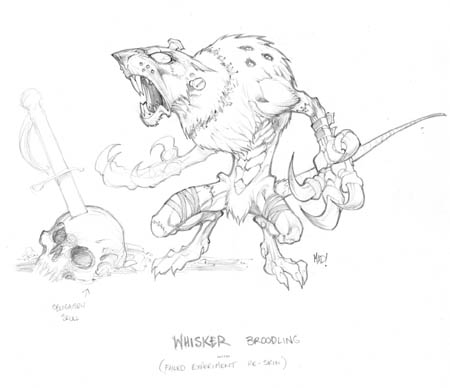 Dungeon Runners whisker broodling concept art