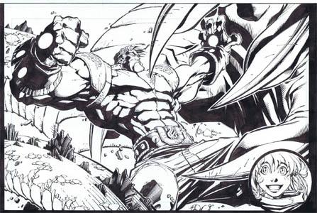 Frank Frazetta Fantasy Illustrated pages 40-41 (Ink)