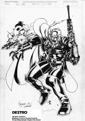 G.I. Joe: A real American hero #130 Destro (Ink)
