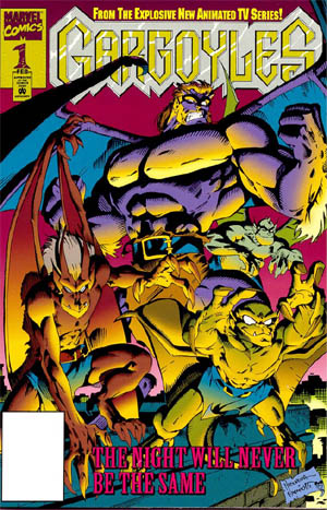 Gargoyles Vol #1 comic #1 cover (Color)
