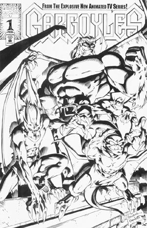Gargoyles Vol #1 comic #1 cover (Ink)