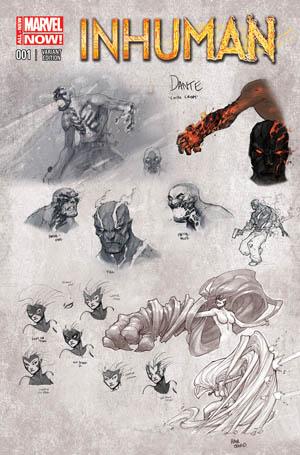 "Inhuman #1 ""design"" variant cover"