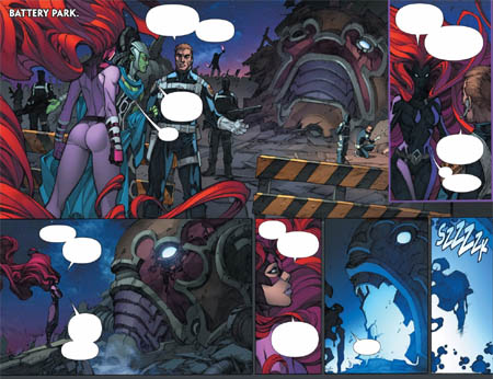 Inhuman #1 double page 6 and 7