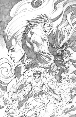 Inhuman #3 cover  (Pencil)