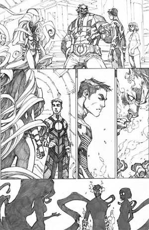 Inhuman #3 page 8 (Pencil)