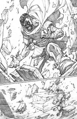Inhuman #3 page 13 (Pencil)