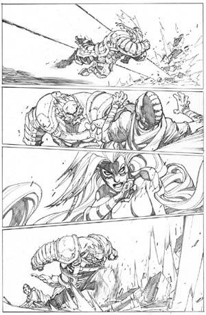 Inhuman #3 page 17 (Pencil)