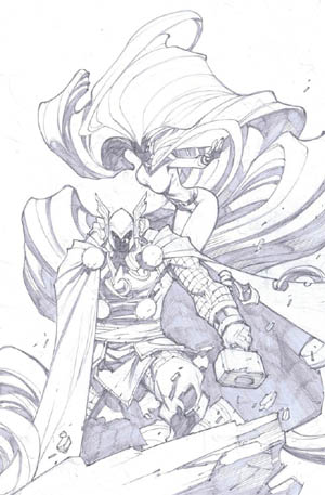 Inhuman #4 variant cover (Pencil)
