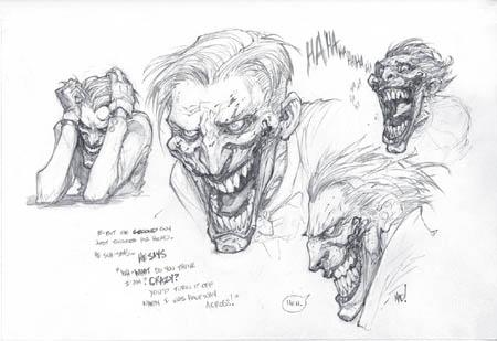 Joker warm-up doodle