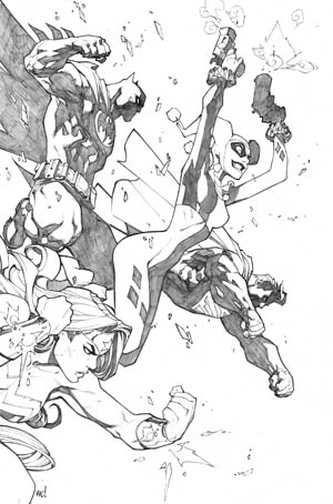 Justice League of America #6 variant cover (JLA) (Pencil)