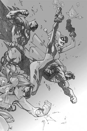 Justice League of America #6 variant cover (JLA) (Texture)