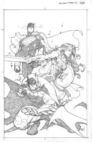 Justice League (of America) Rebirth #1  variant cover (Pencil)