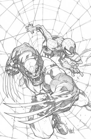 Savage Wolverine issue #6 cover (Pencil)
