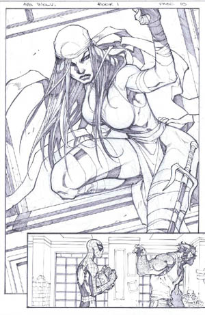 Savage Wolverine issue #6 page 10 (Pencil)