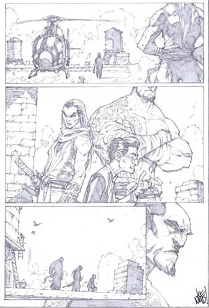 Savage Wolverine issue #6 page 13 (Pencil)