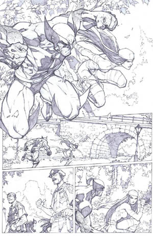 Savage Wolverine issue #6 page 15 (Pencil)