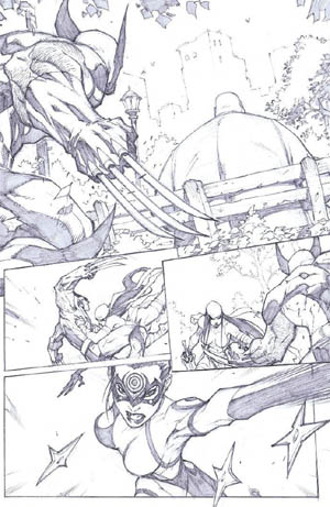 Savage Wolverine issue #6 page 17 (Pencil)