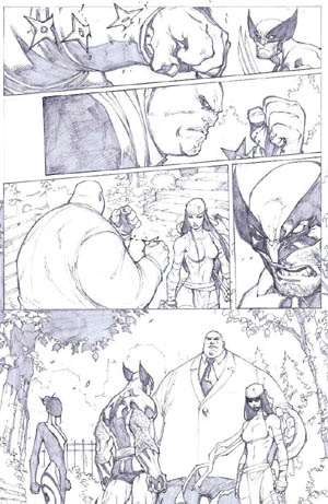 Savage Wolverine issue #6 page 18 (Pencil)