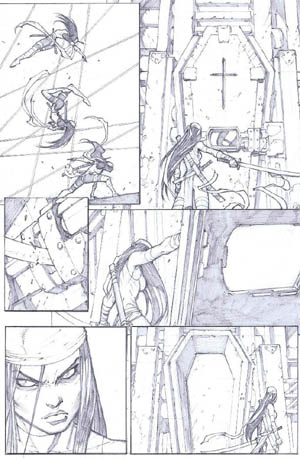 Savage Wolverine issue #6 page 3 (Pencil)