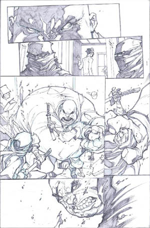 Savage Wolverine issue #6 page 5 (Pencil)