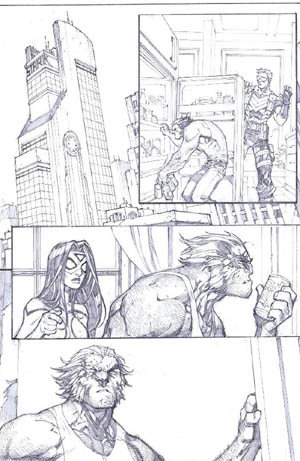 Savage Wolverine issue #6 page 8 (Pencil)