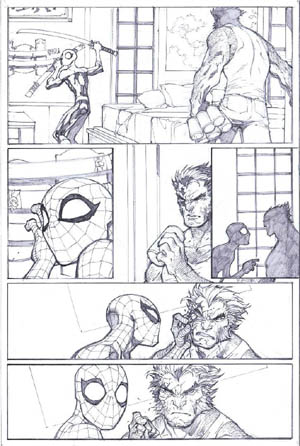 Savage Wolverine issue #6 page 9 (Pencil)