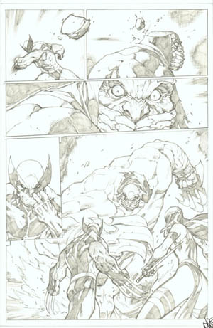 Savage Wolverine issue #7 page 12 (Pencil)