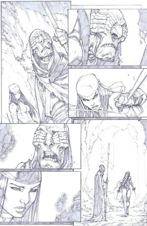 Savage Wolverine issue #7 page 14 (Pencil)