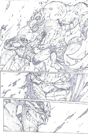 Savage Wolverine issue #7 page 15 (Pencil)