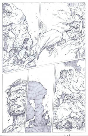 Savage Wolverine issue #7 page 17 (Pencil)